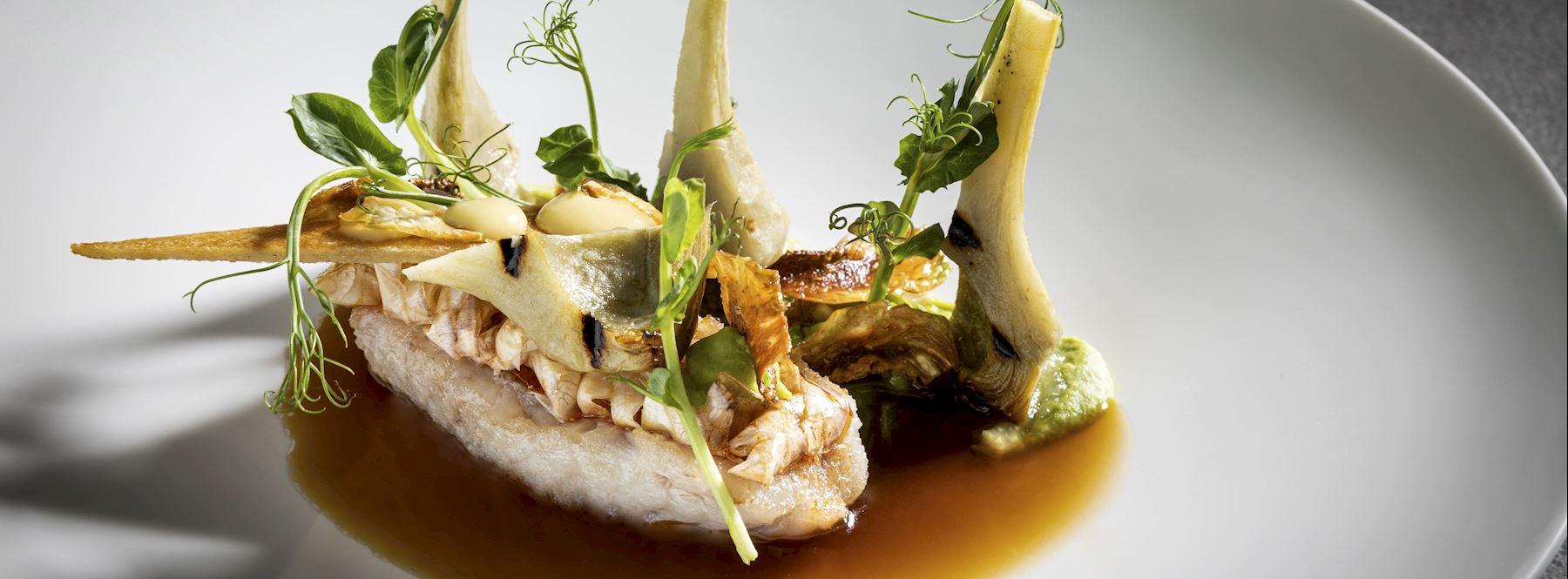 Michelin Sterne Küche im Restaurant Wien - OPUS